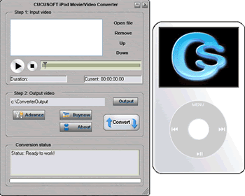 Cucusoft iPod Video Converter Screenshots