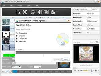 Xilisoft Blu-ray Creator Express Screenshots